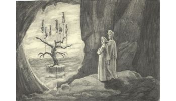 the tree of innocence from inside the cave of guilt.2008 pencil on paper21x31cm