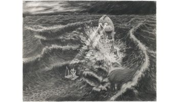 there is hope my little castaway2010oilcharcoal on paper 70x100cm
