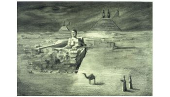 ancient ruins.2007pencil on paper 21x31cm